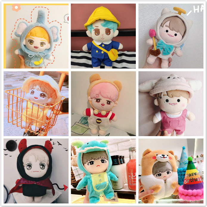 [MYKPOP]KPOP Doll's Clothes & Accessories Set For 20cm Dolls(without Doll) Fans Collection E9 SA19112301