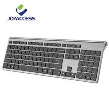 JOYACCESS Full Size Tastiera Senza Fili Ricaricabile Key Silenzioso Ergonomico Spagnolo/Italiano/Tedesco/Francese/Russo/Inglese per Ufficio