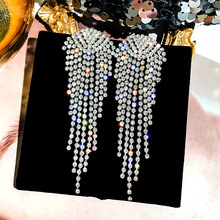 цены new fashion golden silver plated dangle hanging  rhinestone long drop earrings for women jewelry brincos bijoux