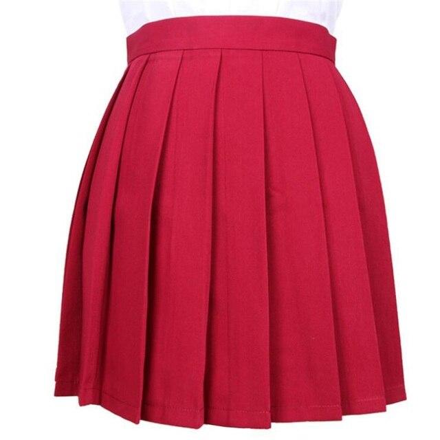 Women's Skirts Ladies Kawaii Pleated Cos Macarons Solid Color High Waist Skirt Female Korean Harajuku Clothing For Women Casual 4