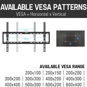 Image 4 - Soporte de montaje en pared para TV inclinable, para la mayoría de pantallas planas LED de 37 70 pulgadas, y LCD de Plasma, perfil bajo de hasta VESA 600x400, incluye Cable HDMI