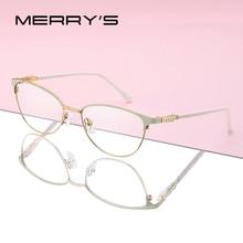 MERRYS DESIGN Frauen Fashion Cat Eye Brille Rahmen Retro Brillen Myopie Rezept Optische Brillen S2117
