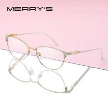 MERRYS Donne di DISEGNO di Modo di Gatto Occhiali Da Vista Cornice Retrò Occhiali Miopia Ottica di Prescrizione Occhiali S2117