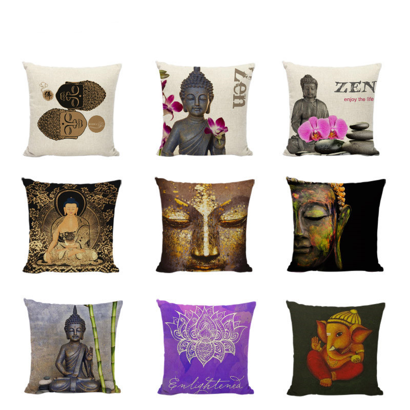 Buddhism Pillow Case Thailand Style