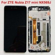 מקורי AAA מבחן לzte נוביה Z17 מיני NX569J NX569H LCD מסך תצוגה + לוח מגע digitizer עם מסגרת משלוח חינם 5.2 אינץ