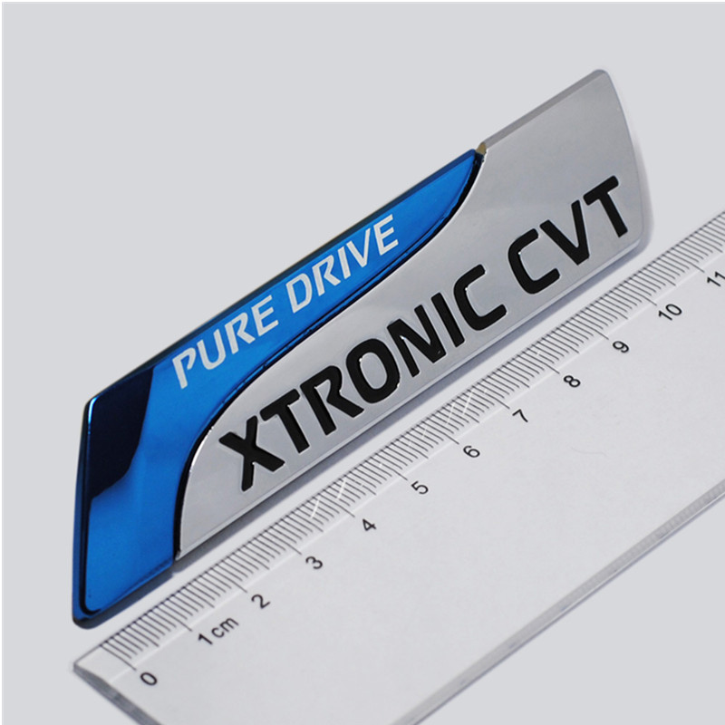 1pcs PURE DRIVE XTRONIC CVT 3D Car emblem Badge for Nissan Altima auto car sticker decals Car Styling(China)