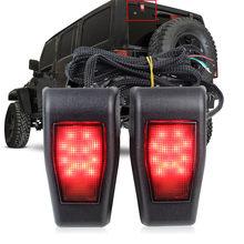 Schwanz Glas Scharnier Lichter Hohe Tailgate LED 3RD Bremse Hinten Lampe für Jeep Wrangler Jk 07-17