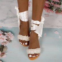 2020 Summer Sandals Beaded Bling Shoes New Fashion Female Sexy Ankle Strap Crystal Slides Flat Beach Satin Bling Sandals Shoes цена 2017