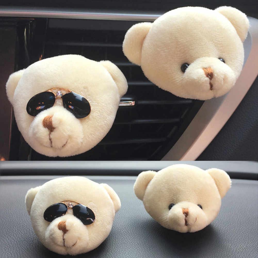 Voiture mignon drôle ours sortie d'air nouveau parfum parfumé Clip assainisseur d'air diffuseur désodorisant diffuseur Clip + 2x baume