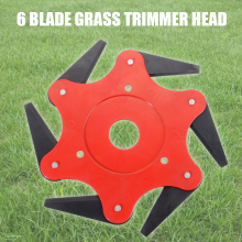 купить Metal 6 Teeth Brush Cutter Blade Trimmer Head Trimmer Blades 65Mn Garden Grass Trimmer Head for Lawn Mower Cutter Tool по цене 582.92 рублей