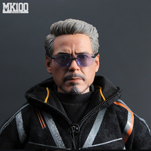 1/6 Scale Ironman Tony Stark Young/Old Head Sculpt Body Figure DIY Action Figures