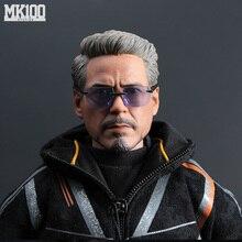 1/6 échelle Ironman Tony Stark jeune/vieille tête sculpter corps figurine bricolage figurines