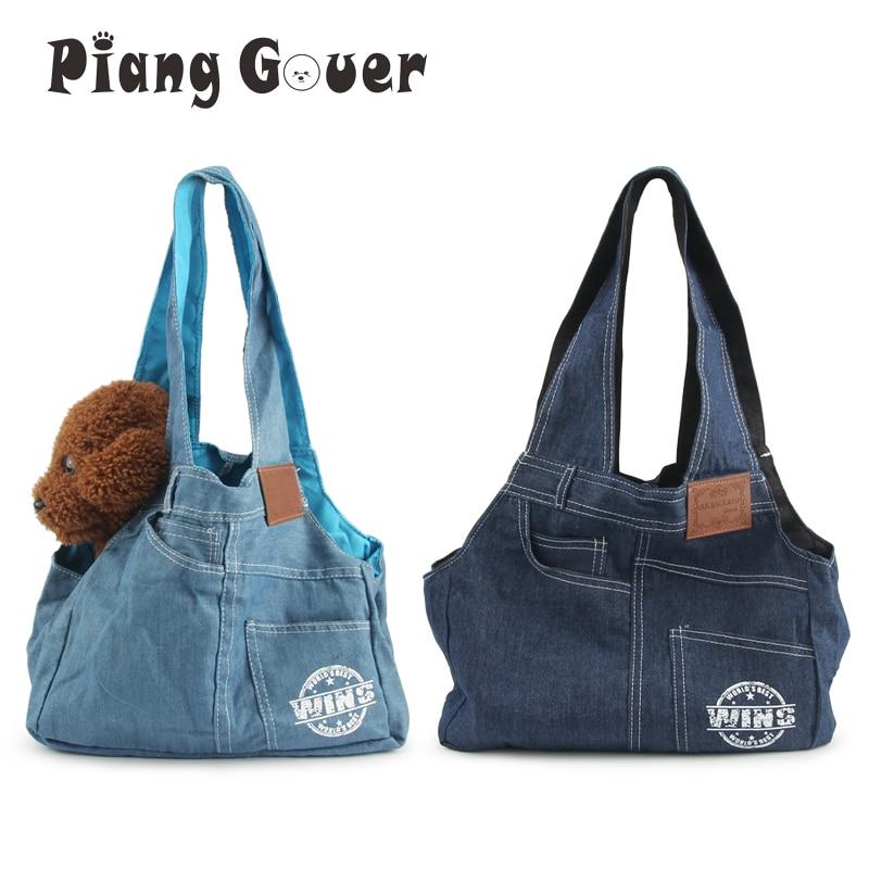 Мини-сумки для переноски собак, джинсовая дорожная сумка через плечо для щенка, кота, сумка для переноски домашних животных