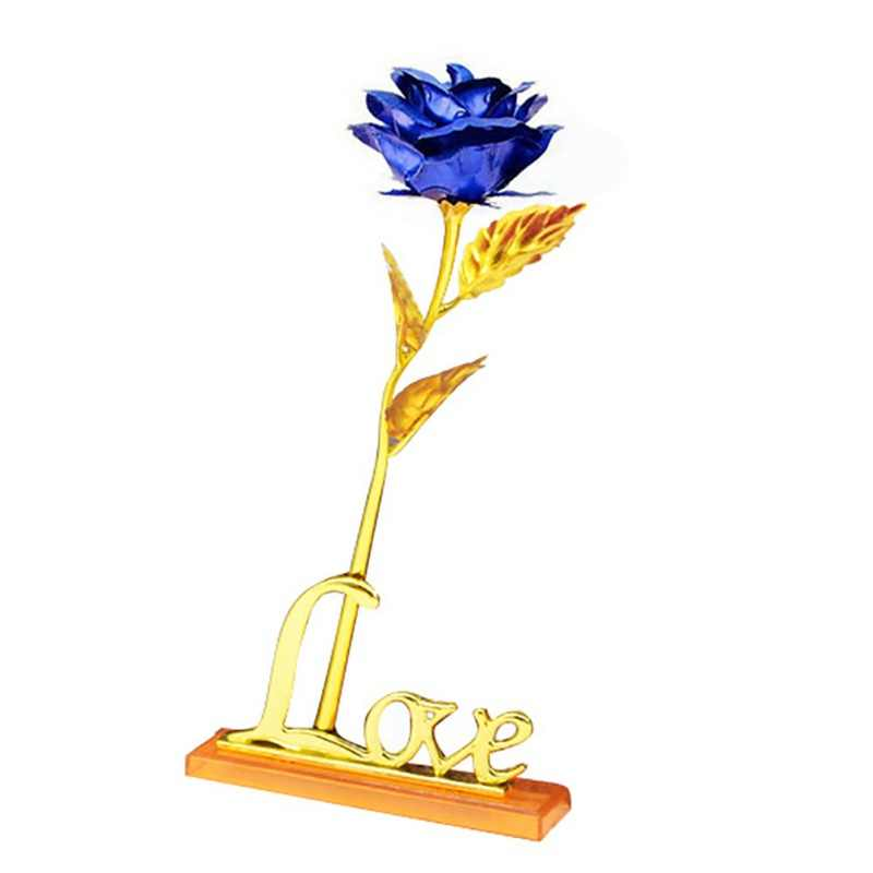 Mother's Day Valentine's Day Present Gift Gold Plated Golden Rose 24K Flower Holiday Wedding Party Decoration With Retailed Box