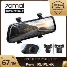 70mai – caméra de tableau de bord à double objectif, 9.35 pouces, 1080P, grand Angle 130 °, enregistreur vidéo pour voiture, rétroviseur