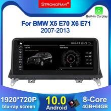 หน้าจอIPS Android 10.0 Car DVD PlayerสำหรับBMW X5 E70/X6 E71 (2007 2013) CCC/CICระบบGPSนำทางวิทยุมัลติมีเดีย