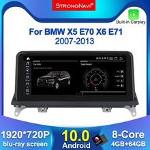 IPS Screen Android 10.0 Car DVD Player for BMW X5 E70/X6 E71 (2007 2013) CCC/CIC System GPS Navigation Auto Radio Multimedia