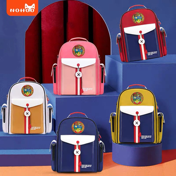 NOHOO Children Backpack Boys Orthopedic Primary Student Backpack for Girls Waterproof   High Quality Kids Bags 6-15 Years old rye time schoolbags boys and girls 2 4 6 years of load reduction girls 6 12 years burden reduction junior high children backpack