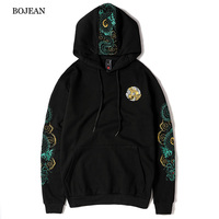 Fall and Winter 2019 New Chinese Style Chinese Dragon Embroidery Design Trend Fashion Leisure Hoodie off white mens hoodies