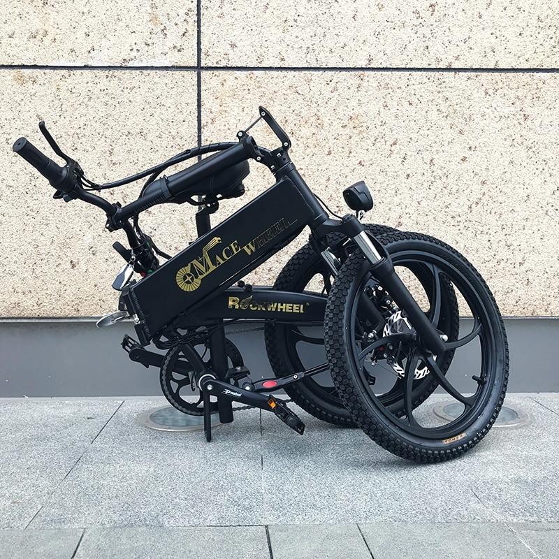 Electric Folding GT20 Bike Three Riding Modes ebike 350W Motor e bike 60KM Range Electric Bicycle 20 inch tire scooter 5