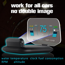 LED Speed Projector OBDII Head-up Display Over-speed Warning Alarm System OBD2 + GPS Head Up Display C1 HD LCD Display HUD Car(China)