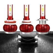 Lâmpada led para o farol do carro h4 h7 h11 h8 led hb4 h1 hb3 h9 9006 9005 luzes do carro lâmpadas led 12v lâmpadas de automóvel 60 w 8000lm
