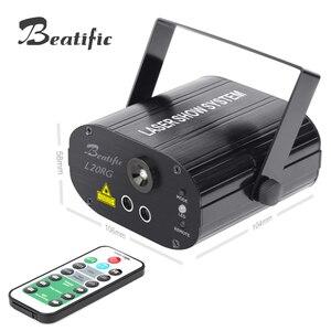 Image 4 - Projecteur Laser pour spectacle, système de spectacle Laser pour fête musicale, lumière de couleur, 20 motifs avec stroboscope
