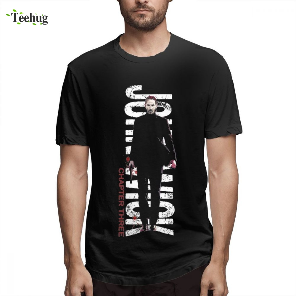 Hipster John Wick Neo-noir Action Thriller Film Homme Tee Shirt For Male Geek 3D Print For Male Graphic Top Tees image