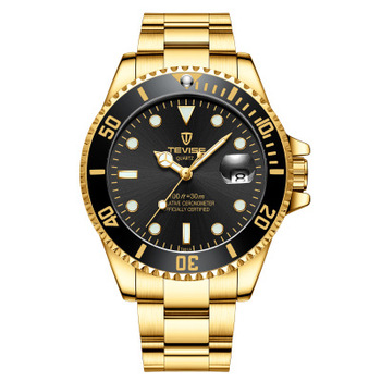 Hot Brand blue Luxury siliconce dz Auto Date Week Display Luminous Diver Watches Stainless Steel Wrist Watch Male Clock