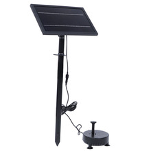 Solar Fountain 9V 8W Remote Control Floating Solar Fountain Pump with Light for Garden Outdoor Landscape Decor Fountain