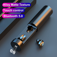 Pull-out Bluetooth Earbuds Wireless Earphone TWS True Stereo With Microphone Metal matte Touch Music Wireless Headphones