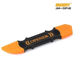 JAKEMY металлический инструмент для открывания, противоскользящий шпатель с отверстием для разборки, ручные инструменты для ремонта мобильных телефонов и планшетов