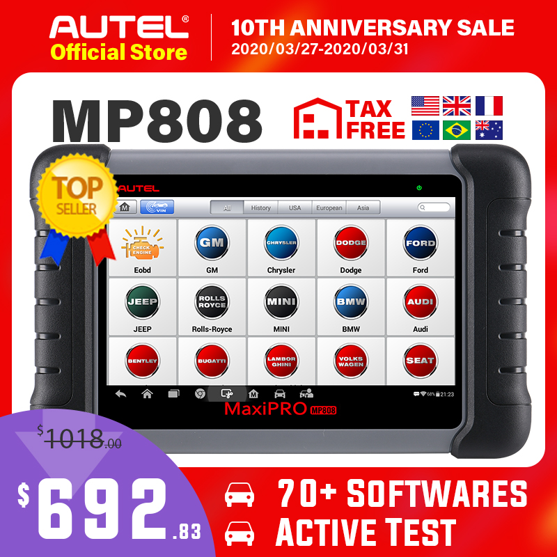 US $713.21 30% OFF|Autel MaxiPRO MP808 Diagnostic Tool OBD2 Professional OE level OBDII Diagnostics Tool Key Coding PK Autel AP200 MK808 MK808TS|kit kits|kit pro|autel adapter - AliExpress