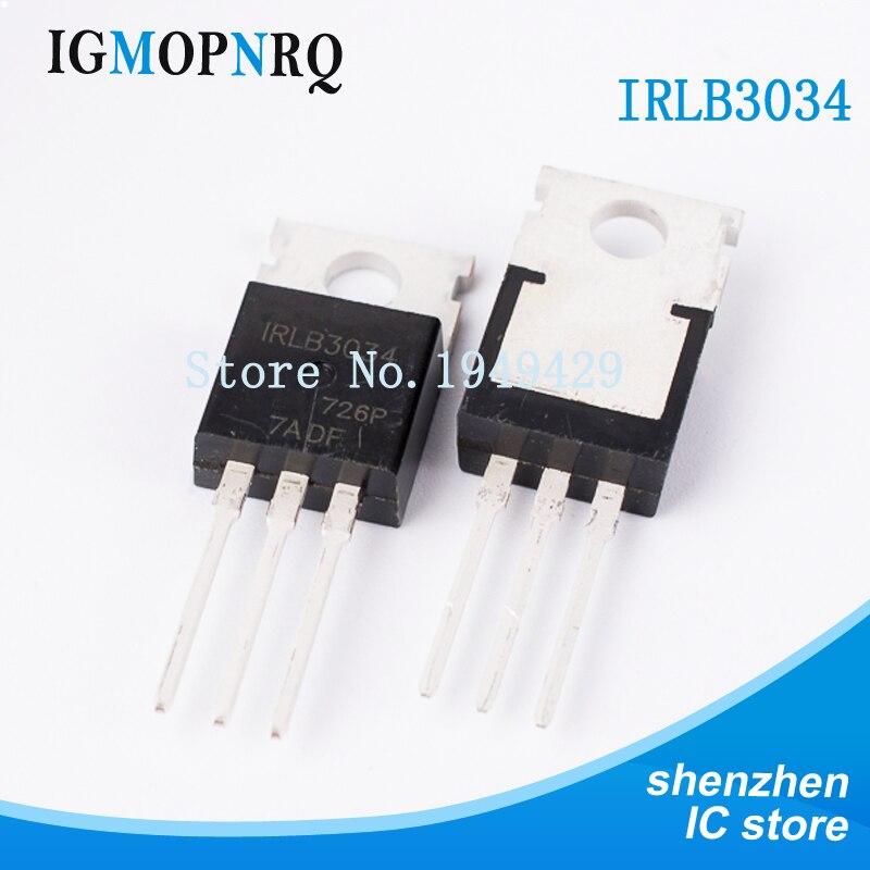 10PCS IRLB3034 TO-220 IRLB3034PBF MOSFET MOSFT 40V 343A 1.7mOhm 108nC New Original Free Shipping