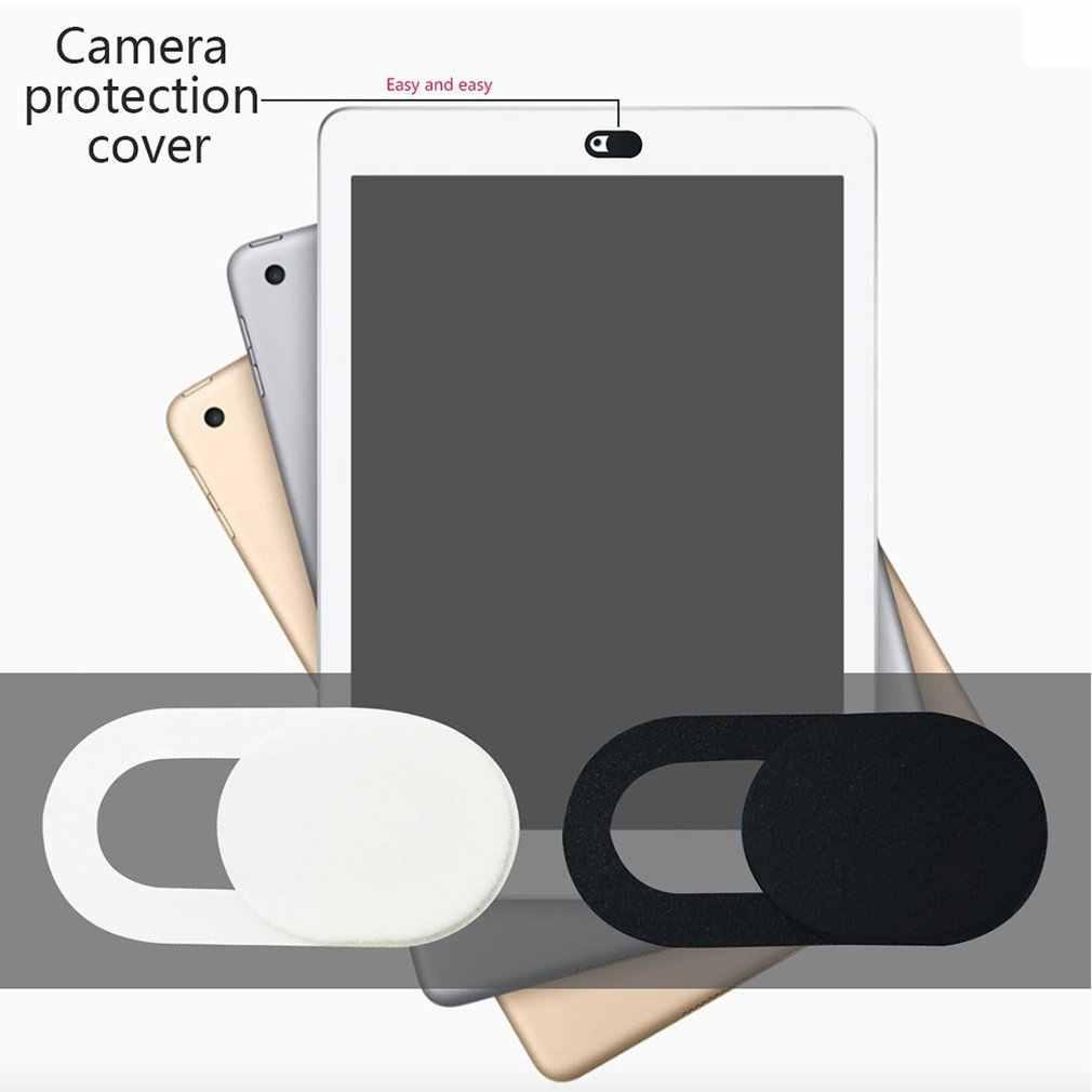 6 pièces universel Web Cam couverture obturateur aimant curseur plastique caméra couverture pour IPhone PC ordinateurs portables téléphone portable lentille confidentialité Sticke