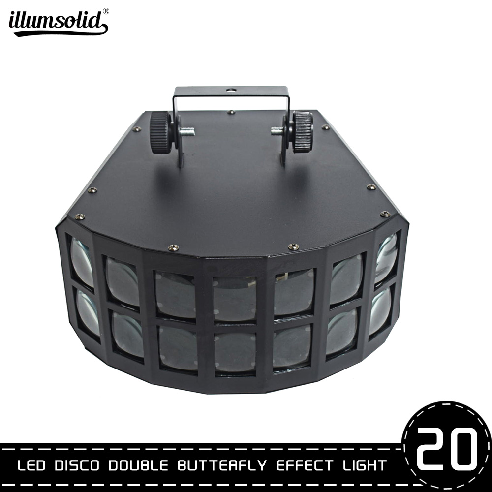 Double Butterfly 4in1 LED Stage Effect Lights Ktv Bar Lighting LED Light Scan Light Effect 20pcs/lot