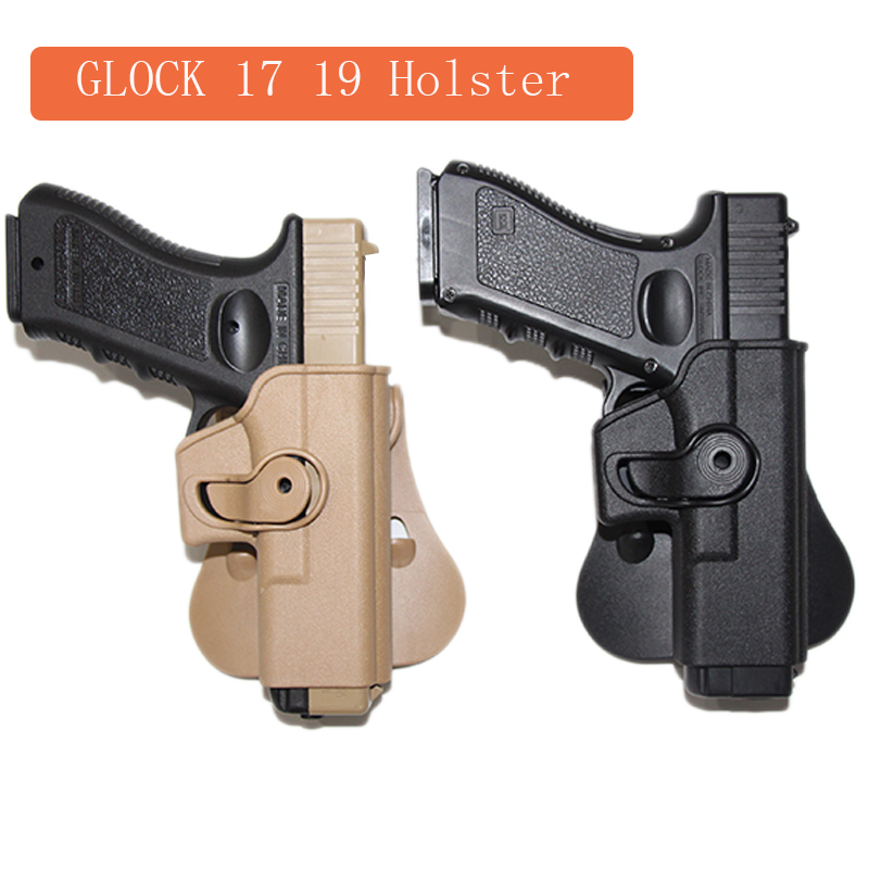 Imi glock coldre tático para glock 17 19 22 26 31 pistola airsoft caso holsters cintura com compartimento bolsa caça acessórios