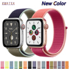 Nylon Strap for apple watch 4 5 band 44mm 40mm correa apple watch 38 mm