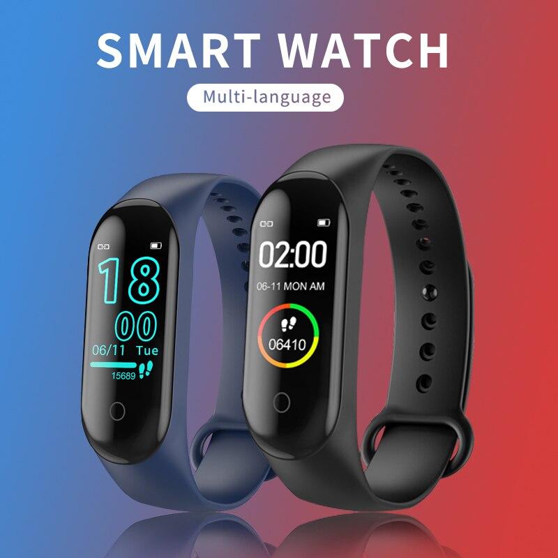 Bracelet intelligent Bluetooth Junior Femmes Fréquence Cardiaque Podomètre Intelligent Ultra Mince Montre Ip68 Cyclisme L'enseignement En Anglais