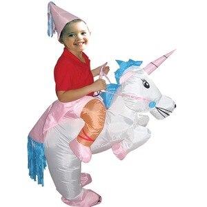 Image 2 - ליל כל הקדושים פורים מתנפח ילד מבוגר תלבושות ילדים מסיבת דינוזאור unicorn נשים ליל כל הקדושים תלבושות לילדים לרכב על תלבושות