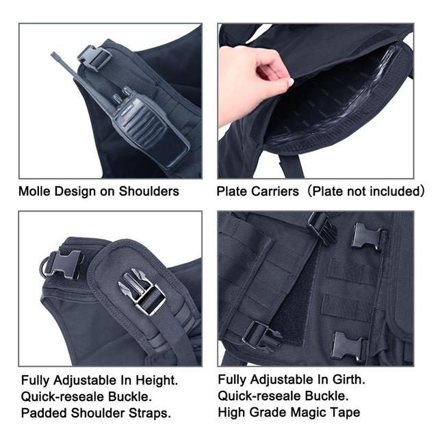 MGFLASHFORCE Molle Airsoft Vest Tactical Vest Plate Carrier Swat Fishing Hunting Vest Military Army Armor Police Vest 4