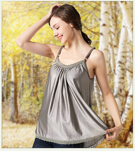Серебристого волокна электромагнитного излучения-устойчивый камзол, дамы девушки платье-комбинация, подтяжки, EMF защитная одежда