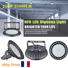2pcs 250W 25000LM 220V UFO LED High Bay Lights 6500K Waterproof High Lumen Factory Lighting Industrial Warehouse High Bay Lamp цена