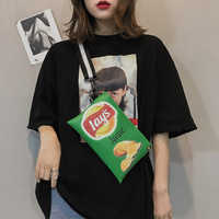 La MaxZa Fashion Women Shoulder Bags Candy Color Women Potato Chips Bags Zipper Crossbody Messenger Bags Handbags Main Femme