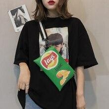 La MaxZa Fashion Women Shoulder Bags Candy Color Women Potato Chips Bag