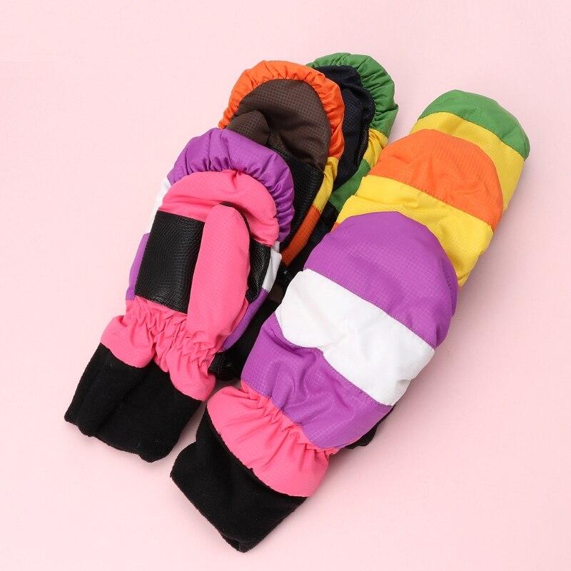 Thickening Baby Mittens Warm Winter Baby Boys Girls Children Snowboard Gloves Y98F