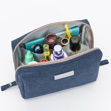QIUYIN Travel Cosmetic Bag Solid Color Cationic Hand Wash Small Square Storage