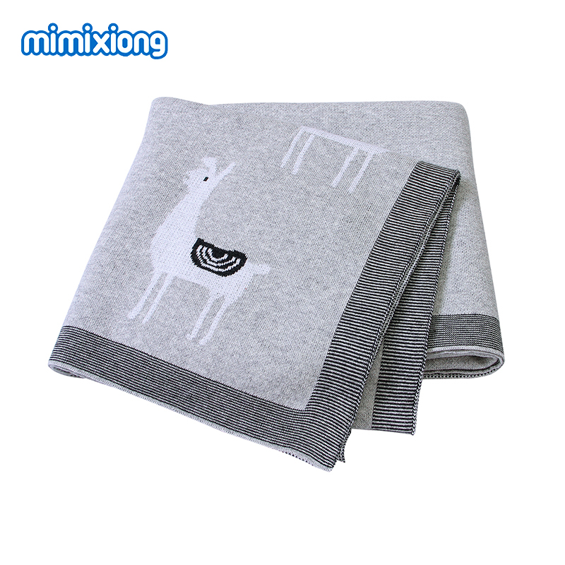 Baby Blankets Knitted Newborn Cartoon Swaddle Wrap Soft Toddler Infant Sofa Crib Bedding Quilts 100*80cm Children Stroller Cover