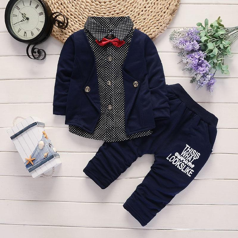 Spring and Autumn Modern Design Baby Suit Boy Clothes Baby Boy First Birthday Outfit Baby Kleding Jongen Baby Clothes BD50YE
