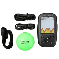 Fish Finder Color Screen Rechargeable Waterproof Wireless Fish Finder Sensor Sonar Echo Sounder English Version|Fish Finders| |  -